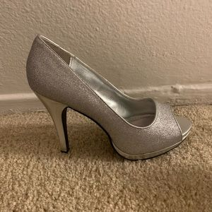 Rampage Shoes - Silver sparkly heels